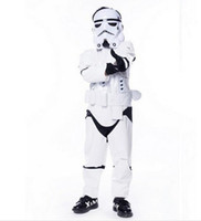 Wholesale Storm Costumes - New Child kids Deluxe Wars The Force Awakens Storm troopers Cosplay Fancy Dress Classic Halloween Faux Leather Costumes