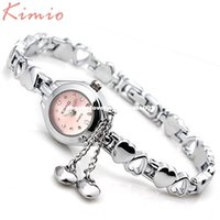 Wholesale Kimio Watch Women - KIMIO Simple Small Dial Love Decoration Bracelet Ladies Famous Brand Women Luxury Watches Womens Quartz-watch Female Wristwatch