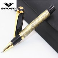 "Wholesale Baoer Eight Horses - Genuine Baoer 507 Roller ball Pen Golden Xubeihong ""the eight horses"" Medium Nib rollerball Pen"