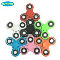 Wholesale Black Acrylic Desk - Stocks Hand Spinner Triangle Tri Fidget Acrylic Plastic Ball Desk Focus Toy EDC For Kids Adults Finger Spinning Top