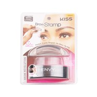 Long-lasting black eye shadows - I ENVY BY KISS Eyebrow Powder Seal Makeup Eyes Brow Stamp Palette Delicated Shadow Definition Fast Beauty