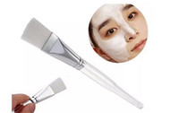 Wholesale Eye Face Mask - 2017 Facial Mask Brush Kit Makeup Brushes Face Skin Care Masks Applicator Cosmetics Home DIY Facial Eye Mask Tools Clear Handle 15.5cm