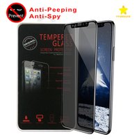 Wholesale 3d Spy - For iPhone 8 Plus iPhone X Tempered Glass Privacy Screen Protectore Anti-Spy Film Soft Edge Full Cover 3D with Retail Package
