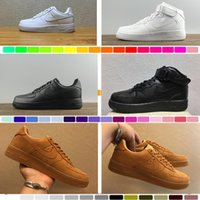 Wholesale Force Shoes - 2017 New arrival High-quality Fashion Forcing Men Women One 1 Running Shoes Low high Cut All White Black Colour Casual Sneakers