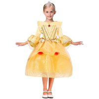 Wholesale Wholesale Beauty Pageant Dresses - Children Princess Dresses Party Pageant Ball Gown Long Pleated Cosplay Dress Aurora Belle Sophia Aurora Gauze Lace Sleeping Beauty XL-TS18