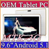 10X 9.6 Inch <b>Tablet PC MTK8382</b> MTK6592 Quad Core Android 4.4 Android 5.1 Tablet 1GB 16GB 5mp IPS tela 800 * 1280 GPS 3G telefone Comprimidos E-9PB
