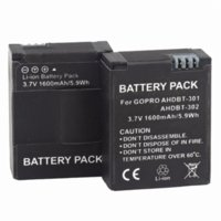 Wholesale Gopro Hero3 Camera Battery - PROBTY 4Pcs 1600mAh AHDBT-301 GoPro Hero3 Battery + LCD Dual Charger For GoPro Hero 3 Hero 3+ Camera Accessories
