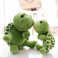 Wholesale Stuffed Turtles Big Eyes - Wholesale- Kawaii Turtle Plush Toys Stuffed Animal Tortoise Dolls Anime Plush Green Big Eyes Turtle Toys for Kids Birthday Christmas Gifts