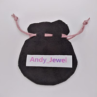 pingentes de saco de pulseira venda por atacado-Pink Ribbon Black Velvet Bags Fit Pandora Estilo Europeu Beads Encantos e Pulseiras Colares de Jóias Moda Pendant Bolsas