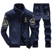 Wholesale Cool Stand Collar - Tracksuits Men Leisure Sport Suit Luxury Men's Sportswear Brand Hoodies Hip Hop Jogger Set Cool Sweatshirt Sudaderas Hombre