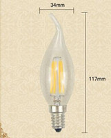 Wholesale Lamp Shades For Chandeliers - 10X 220V E14 Glass Shade LED lamp 360 Degree 2W 4W Retro Edison LED Filament Bulbs Candle light COB Chandelier for Art lighting