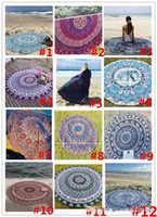 Wholesale 12colors Summer Sunbathe Round Beach Towel Large Microfiber Printed Yoga Towel With Tassel Serviette De Plage Toalla Circle Playa shawl