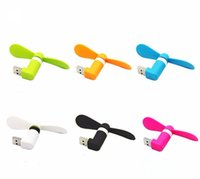Wholesale phone power bank china resale online - 1000PCS Mini OTG Portable Rotating Fan Cooler Adapter For Android Phones For Power Bank
