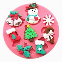 itens de doces venda por atacado-Boneco De Neve De Forma Bonito Doces De Chocolate Jello 3 d itens de Natal cozinhar Ferramentas Decoração Do Bolo Decoração de casamento