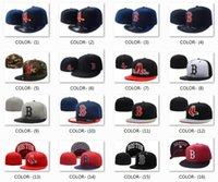Wholesale Red Hats For Sale - 2017 All Teams Classic Navy Blue Boston Red Sox Fitted Cap Embroidered Team Logo Baseball Cap On Field Sport Fit hats for Sale