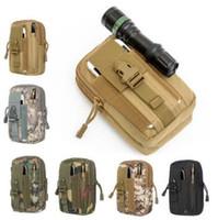 ingrosso borse tattiche-Military Molle Tactical Marsupio Portafoglio Custodia Telefono Custodia da campeggio esterna Escursionismo Tactical Marsupi CCA7343 50 pz