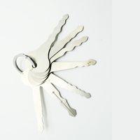 herramientas de recogida de puertas al por mayor-7 UNIDS Auto Jiggler Pick Lock Tool Llave Del Coche OPener Tryout Key Para Coches Casa Herramientas de Cerrajería de La Puerta