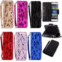 Wholesale Chinese Carved Stand - Fashion PU Leather Case For fundas Huawei Ascend P8 Lite Cover Phone Bags Laser Carving Butterfly Wallet Stand Mobile Phone Case
