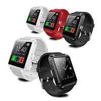telefones s4 venda por atacado-EUA Frete Grátis Bluetooth Smartwatch U8 Relógio Inteligente Relógio de Pulso Relógios para iphone 6 6 s samsung s4 s5 nota 2 nota 3 android telefone