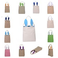 Wholesale Basket Tools - The New Cotton Linen Easter Bunny Ears Basket Bag Child Fine Festival Handbags Simple Storage Bags Light Pouch For Kids Gifts 8xy R