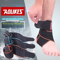 Wholesale Ankle Protection Football - Wholesale- AOLIKES 1PCS Silicone Ankle Support Strap Basketball Football Professional Adjustable Ankle Sleeve Protection Ankle Brace