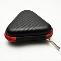 Wholesale Triangle Candy Bags - 9*3cm Triangle Hand Spinner Box Black Fidget Spinners Case Sturdy Storage Boxes Compression Resistance Bag Keys Lines Earphone Container 2xc