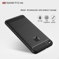 Wholesale Cases For Mini Phones - Case for Huawei P10 Lite P10 Mini Cover Carbon Fibre Brushed TPU Phone Cases for Huawei P10Lite P10Mini Phone Bag