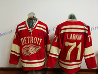 Wholesale Hockey Jerseys Home - detroit red wings #71 dylan larkin 2016 winter classic Red 2017 Hockey Jerseys Ice Winter Home Away Jersey Stitched Drop Shipping
