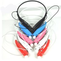 Wholesale Generic Cell - New Bluetooth Headphones HBS730 Wireless Headset For Mobile Phone MP3 Player Neckband BT4.0 Noise Cancelling Stereo Earphone Generic