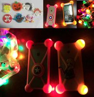 Wholesale 3d note case cartoon online - For iphone x case universal D cartoon Halloween case led night light up bumper animal luminous cover for iphone plus samsung s8 note