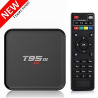 Wholesale Internet Hd - Quad Core Internet TV Box Amlogic S905X 2.4G WiFi 1000M Lan Fully loaded Android 6.0 Smart TV Box T95M 1GB 8GB