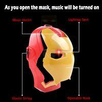 Wholesale Marvel Led Lights - Party Masks Captain Americas Iron Man Marvel Avengers Masks For Sale All Have LED Lights Pvc Mask With Music