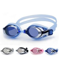 Wholesale New fashion waterproof anti fog electroplating goggles high definition waterproof large frame Plain swimming goggles men and women universal