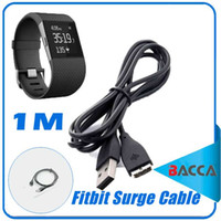 Wholesale Watches Accessories Wholesale - 1M USB Replacement Charging Charger Cable for Fitbit Surge Super Watch Smart Watch Smart accessories dhl