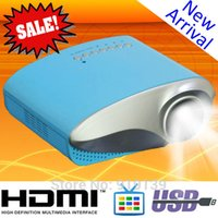 Wholesale Cheap Tv Digital Tuner - Wholesale-Digital Small Size Portable LED Projector 802 Cheap Price HDMI TV Tuner Video Proyector Home Used Movie Beamer Free Shipping