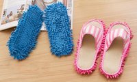 Wholesale New House Cleaning Mop - New Arrival 27*11cm Microfiber Dust Cleaner Cleaning Mop Slipper House Bathroom Floor Shoes Cover Lazy Tool Home Supplies free shipping