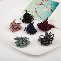 Wholesale Fabric Flower Brooch Diy - Free Shipping 20pcs lot 4cm High Quality Fabric Handmade Craft Microfiber Flower DIY Jewelry Brooch Garment Hair Ornaments