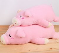 Wholesale 1PCS New Pink Color Kawaii Soft Stuffed Animal Pig Toy Baby Plush Toys Sleeping Plush Doll for Kids Christmas Gift