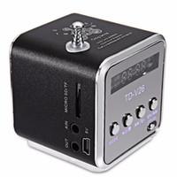 Wholesale Digital Mp3 Audio Player - Xmas Gift Portable Mini Speaker TD-V26 HiFi Stereo Audio Speakers FM Radio TF U Disk Slot Multi-Speaker Digital Sound Box Mp3 Music Player