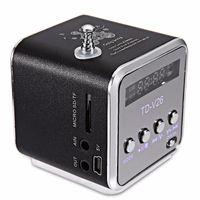 ses kutusu radyo toptan satış-Xmas Hediye Taşınabilir Mini Hoparlör TD-V26 HiFi Stereo Ses Hoparlörler FM Radyo TF U Disk Yuvası Çok Hoparlör Dijital Ses Box Mp3 Müzik Çalar