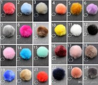 Wholesale Imitation Rabbit Fur - Wedding Gifts Imitation Rabbit Fur Key chains fur keyring pompom Keychains cell phone car handbag pendant