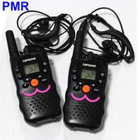 Wholesale Radios Communicators - Portable VT-8 Mini Walkie Talkie 2 Way Radios PMR 446MHz 8 Channels Transceiver Transmitter PTT CB Radio Communicator with Earphone