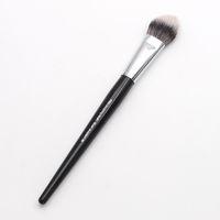 Wholesale plastic unique online - Fashion Makeup Artist Black Long Wood Handle Unique Arched Shape No Pro Sculpting Blush Brush