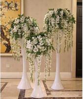 yapay çiçek sevgililer günü dekorasyonları toptan satış-Sıcak Satış Ipek Çiçek sevgililer Günü Için Yapay Çiçek Wisteria Vine Rattan Ev Bahçe Otel Düğün Dekorasyon