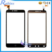 Wholesale Xl Digitizer - Wholesale- 5.5 inch NEW Touch Screen For Alcatel One Touch Fierce XL OT5054 5054 5054D Front Glass Touch Panel Sensor Digitizer Touchscreen
