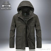 Wholesale Outdoor Jeep - New Famous AFS Jeep Men's winter jackets Hooded Outdoors windproof waterproof parka warm coats plus sizes M-4xl N032