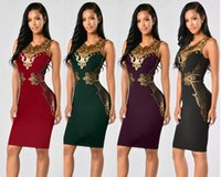 Wholesale Tight Knee Length Lace Dress - Sexy Tight Pencil Evening Dress 2016 Fashion Design Lace Decoration Formal Prom Party Bandage Dresses Sexy Clubwear Slim Package Hip Dresses