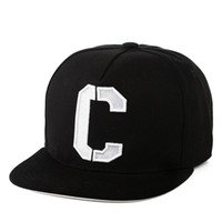 Wholesale Baseball C - New Arrival White Color Letter C Logo Chicago cubs hat Fitted Sport Fashion Flat Baseball Caps Hip Hop Bones