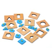 Wholesale Juguetes Montessori - Wholesale- Family Version Baby Toy Montessori Wood Insets Set 10 Early Childhood Education Preschool Training Kids Toys Brinquedos Juguetes