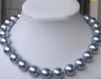 10mm AAA Silver Grey COLLANA PERLA SHELL PERLA MARINA 18